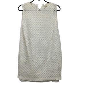 O'2nd Crochet Eyelet Lace Sleeveless Dress White